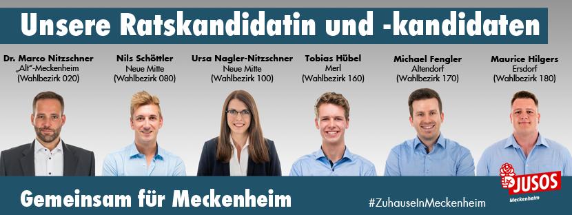 Ratskandidatin und -kandidaten Jusos Meckenheim